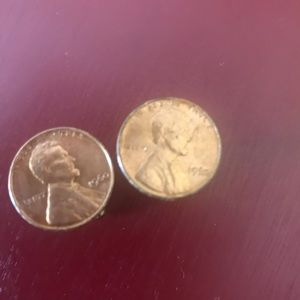 Vintage 1960 penny cuff links